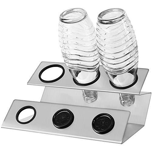 Annvchi Sodastream Flaschenhalter, Soda Stream Crystal Glasflaschen Abtropfhalter, Hergestellt aus hochwertigen Materialien Sodastream Abtropfhalter, Flaschenhalter Abtropfen Lassen