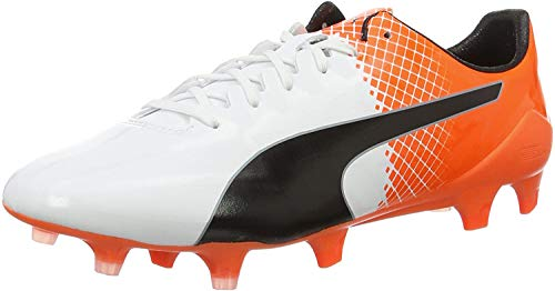 Puma Herren Evospeed SL-S II FG Fußballschuhe, Weiß White Black Shocking Orange 04, 46.5 EU
