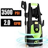 CHAKOR Pressure Washer 3500 PSI, 2.0GPM Power Washer Machine, 1800W High Pressure Cleaner with 4 Adjustable Nozzle, Spray Gun, Hose Reel, Brush