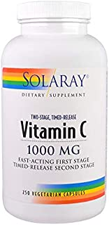 Solaray社(ソラレー) ビタミンC, 2段階タイムリリース 1000mg 250錠 [並行輸入品]