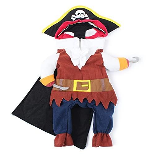 JNXY Divertida Ropa De Gato, Traje De Pirata, Ropa Para Disfraz De Gato, Ropa De Corsario, Ropa De Halloween, Disfraz De Gato Para Fiesta, Disfraz De Mascota (Color : As picture, Size : L)
