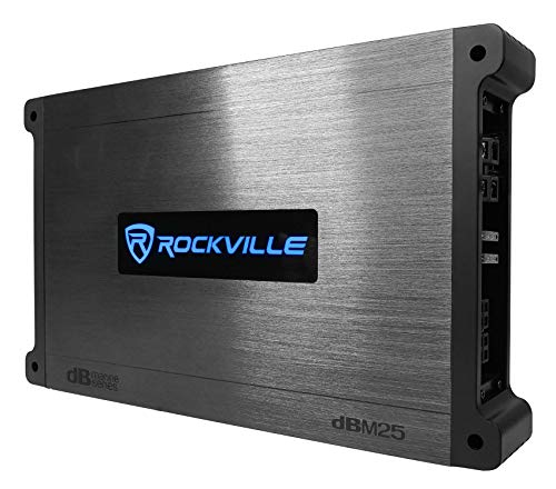 Rockville DBM25 1400 Watt 2 Channel Marine/Boat Amplifier Amp W/Silicone Covers