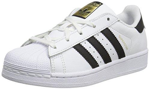 adidas Originals Superstar C Basketball Shoe (Little Kid),White/Black/White,11.5 M US Little Kid