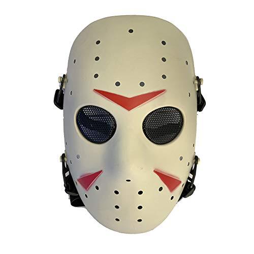 WorldShopping4U - Máscara protectora de cara completa para exteriores (malla metálica, para paintball táctico)