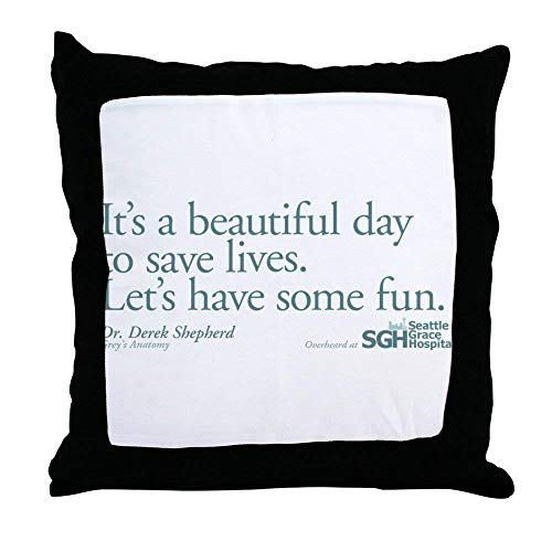 Monsety Save Some Lives Grey's Anatomy - Fundas de almohada decorativas (45 x 45 cm, cierre de cremallera)