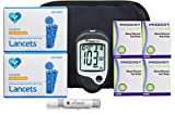 Prodigy Diabetes Testing Kit | Prodigy Talking Blood Glucose Meter, 200 Prodigy Blood Glucose Test Strips, 200 Lancets, Lancing Device, Log Book, User Manuals & Carry Case