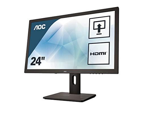 AOC E2475PWJ 59,9 cm (23,6 Zoll) Monitor (VGA, DVI, HDMI, TN Panel, 1920 x 1080, 60 Hz, Pivot) schwarz