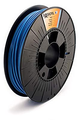 BASICFIL PLA 2.85mm, 500 gr, 3D printing filament , Blue