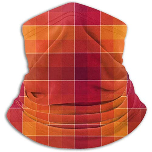 Faithe Keppel Mikrofaser-Halswärmer-Halsgamasche, Ohrenwärmer-Stirnband & Gesichtsmaske. Häkelmuster-Multicolor-Zusammenfassung