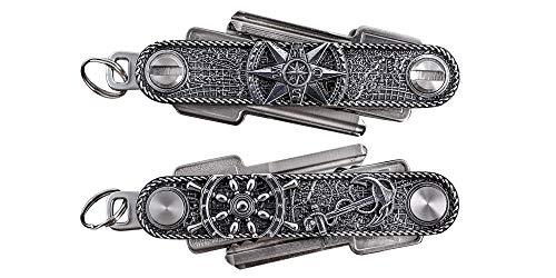 Organizador de llaves de SEEWERK en elegante paquete de regalo / organizador de llaves de metal, tamaño de fábrica X – adecuado para aprox. 10 llaves, ambos lados con llaves