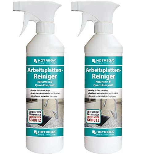 Hotrega - Detergente per piani di lavoro, spray per pietra naturale e quarzo, 500 ml