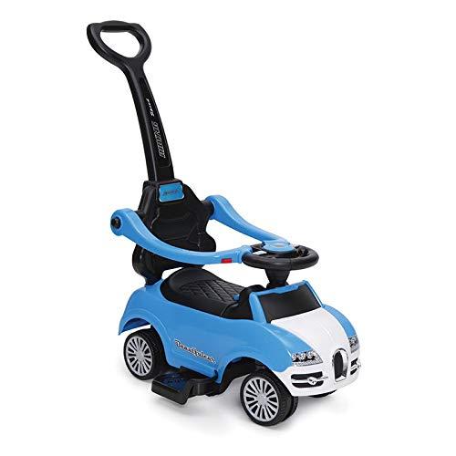 Rutschauto, Rutscher Rider 2 in 1 ab 6 Monate mit Griff, Lehne, Bügel, Fußstütze (Blau)