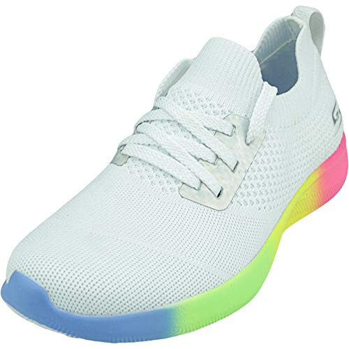 Skechers BOBS from Bobs Squad 2 - Rainbow Rider White 10 B (M)