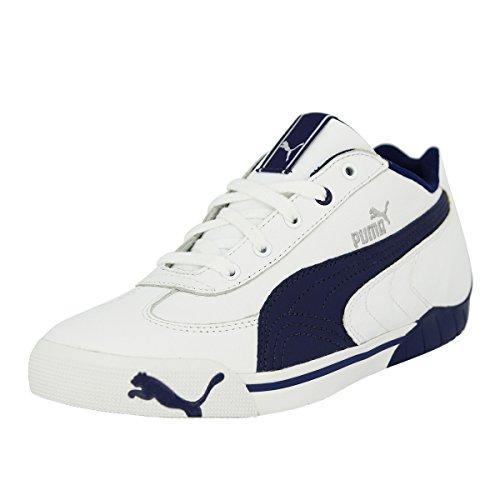 Puma Speed Cat 2.9Low Scarpe da ginnastica alla moda, da bambino, in pelle, colore nero e bianco, Bambini, bianco