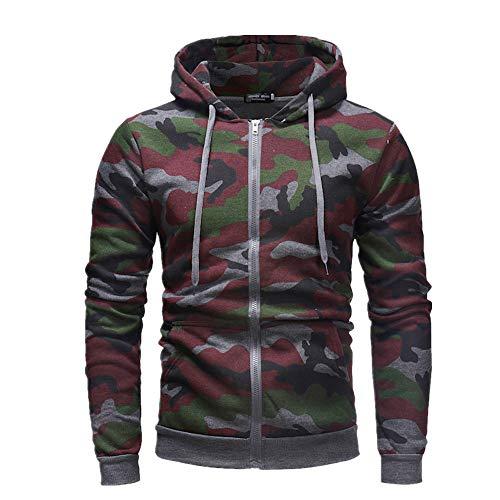 Hommes Automne Personnalisé Zipper Camouflage Hoodie Hommes Pull - - L