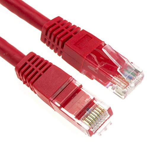 Ethernet Red Cable CAT6 gigabit RJ45 Cobre Internet Parche Cable Rojo 0,5 m [0.5 Metros/0,5m]