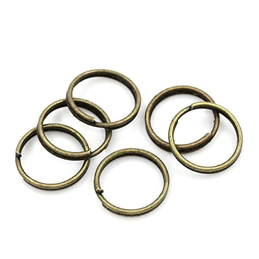 Split Rings Findings Antique Bronze 10mm Dia,500PCs