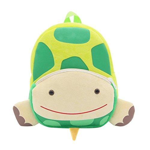 Winkey Rucksack für Kinder/ Baby, Mädchen und Jungen, niedlich, Schultasche, Umhängetasche Turtle 26.5x24x10.5cm wide 20cm x height 24cm