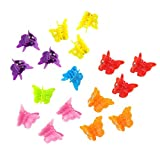 JZZJ 100 Pieces Butterfly Hair Clips Claw Barrettes, Assorted Color Mini Jaw Clip Hairpin Hair Accessories for Women and Girls by