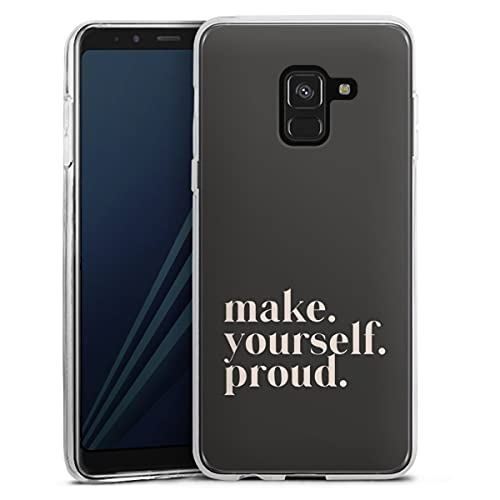 DeinDesign Silikon Hülle kompatibel mit Samsung Galaxy A8 Duos 2018 Hülle transparent Handyhülle Motivation Statement Sprüche