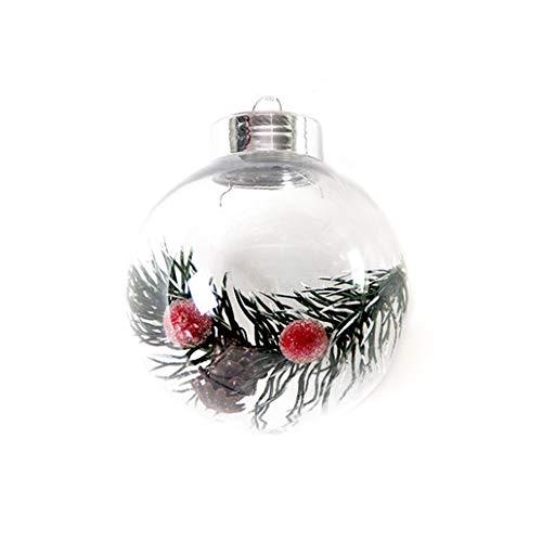 Wyi Paquete de 7 bolas de adornos transparentes de 7.6 cm, bolas de adorno para manualidades, bolas transparentes, irrompibles, decoraciones navideñas para decoración de fiestas