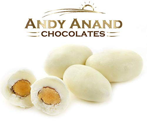 Andy Anand Chocolate Greek Yogurt Covered California Almonds Wholesale Bulk, For Birthday, Valentine Day, Gourmet Christmas Holiday Food Gifts, Thanksgiving, Mothers Fathers Day, Weddings (2lbs)