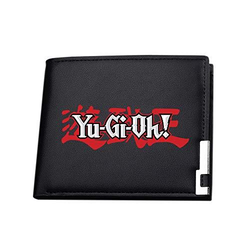 Yu-Gi-Oh Moda Hierro Edge Monedero Monedero Monedero Minimalista Delgado Corto Plegable Impreso Monedero Unisex (Color : Black07, Size : 12 X 10 X 1.5cm)