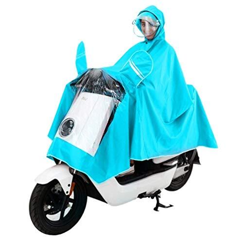 Wasserdichtes Regenmantel-Set Elektro-Motorrad Erwachsener Wasserdichte Doppel Hutkrempe Poncho Männliche und weibliche Einzelhelmmaske Raincoat Regen Abdeckung Sicheres Fahren im Freien kampierende R