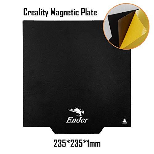 Creality Ender 3 Upgrade Druckbett, Magnetische Plattform, 235x235x1mm für Ender 3 / Ender 3Pro / Ender 5 / CR20 / CR20 Pro