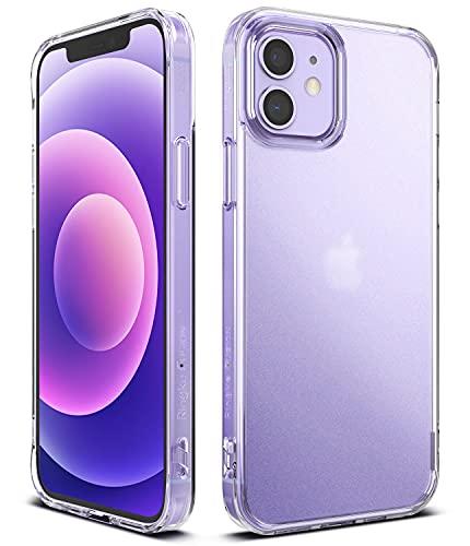 Ringke Fusion Compatible con Funda iPhone 12 Mini (5,4 Pulgadas), Anti Huella Dactilar Acabado Mate Agarre Cómodo, Carcasa Transparente Helada con Agujeros para Cuerda - Matte Clear