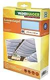 Windhager Tenda Vela Parasole per tendicorda, Protezione Solare, pergola o Giardino d'inverno, 270 x 140 cm, Ciano, 10881