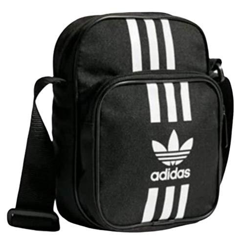 Adidas Originals Small Items - Bolso para hombre, diseño de rayas blancas