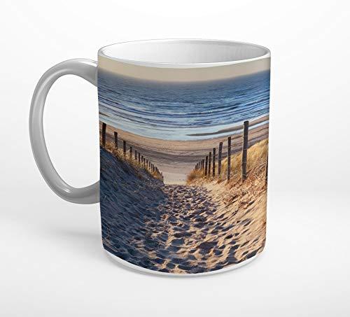 Stufffactory Meer Strand Nordsee Weg Tasse Spruch Motiv Fototasse Kaffeebecher T0828