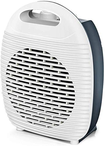 Pkfinrd Mini elektrische verwarming, 2000 W radiator, 2-in-1 hete en koude lucht met oververhittingsbeveiliging, geluidsarme werking in de slaapkamer, kantoor, badkamer, zwart
