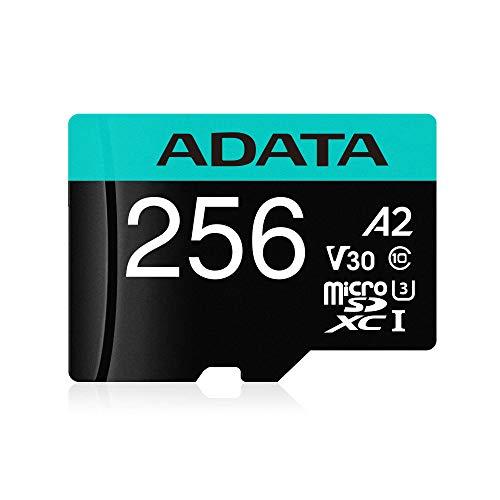 ADATA Premier Pro 64GB MicroSDXC UHS-I U3 V30 Class 10 A2 MircoSD Memory Card with Adapter  AUSDX64GUI3V30SA2-RA1