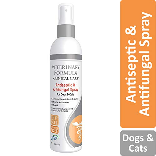 Veterinary Formula Clinical Care Antiseptic and Antifungal Spray for Dogs and Cats – Medicated Topical Spray Treatment for Fungal and Bacterial Skin Infections in Dogs and Cats, Fast Acting, Heal and Soothe Infections (8 oz bottle)