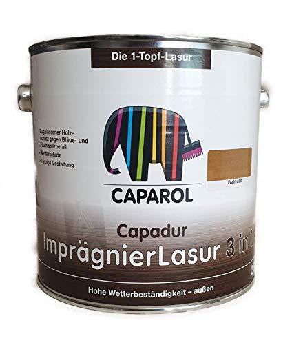Caparol Capadur ImprägnierLasur 3 in1 gegen Fäulniss & Bläue außen 2,5 Liter Farbwahl, Farbe:Eiche