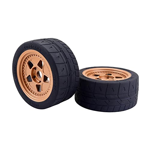 Perfeclan 2 PCS RC 109mm Rubber Tires Fit for ARRMA ZD Racing 1/7 RC High Speed Car Accs