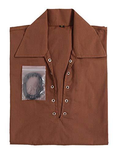 Z&N PRODUCTS Camisa marrón escocesa de Jacobite Jacobean Ghillie Kilt