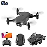 JJDSN 4K Drone with Dual Camera for Kids Adults, WiFi FPV Live Video RC Quadcopter, Gesture Photo, Phone Gravity Sensor Control, 3D Roll, Headless Mode(2Battery)