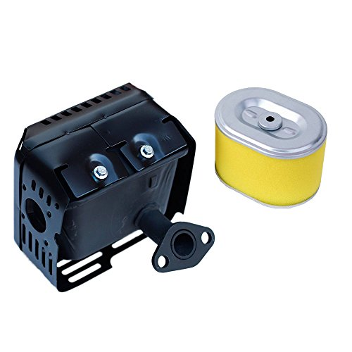 OxoxO Conjunto de escape de silenciador con filtro de aire para Honda GX160 5.5HP GX200 6.5HP Motores/Motores/Generador de motor Bomba de agua