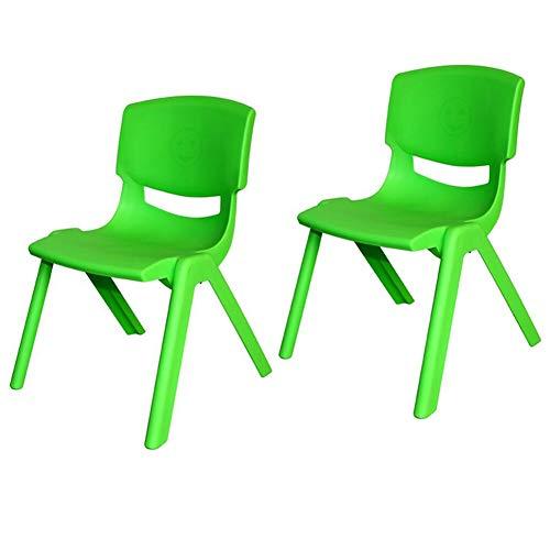 Mesas CJC Sillas Dos Trozo Salón De Clases, Fuerte Plástico, Infantil Niños Té Partido Jardín Guardería Colegio Clubs (Color : Green, Tamaño : 53cm)