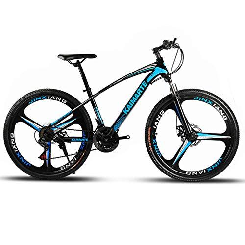 Bicicleta De Montaña De 26 Pulgadas 21 Velocidad Bicicleta De Cuadro De Acero De Alto Carbono Frenos De Doble Disco Bicicleta Rueda De Radios Y Rueda De Cuchillo Bicicleta