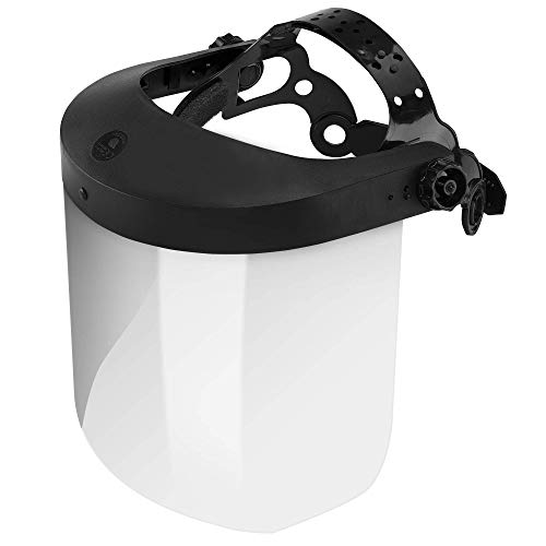 NEIKO 53819A Safety Face Shield with Clear Polycarbonate Visor | Adjustable Head Straps | Universal Fit
