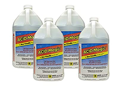 Acid Magic, Muriatic Replacement Acid, 4 Pack of 1 Gallon Bottles