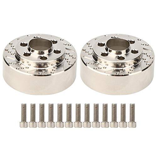 Demeras 2 Stück RC Radgewicht Edelstahl Universal 1,9/2,2 Zoll Gegengewicht Zubehör für 1,9/2,2 Zoll Radnabenmontage