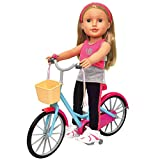 Doll Bicycle - with Streamers and Basket for 18 inch Dolls (Doll Not Included)