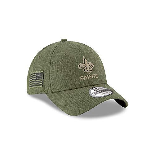 New Era New Orleans Saints 9twenty Adjustable Cap On Field 2018 Salute to Service Green - One-Size