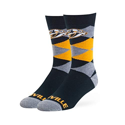 OTS NHL Nashville Predators Men's Blaine Dress Sock, Team Color, Large