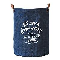 ポータブルランドリーハンパー洋服バスケット シンプルなファブリックの家の破片のおもちゃの収納バスケット洗濯バスケット 耐久性のある洗濯ビン、汚れた衣類の保管 (サイズ : 35*45cm)